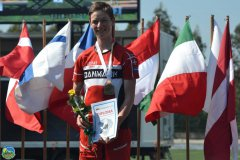 Thomas Steinthal, FIF Hillerød Orientering vinder guld ved ungdoms europamesterskaberne i mountainbike orientering 2016